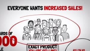 whiteboard video - everyone wants increased sales image whiteboard example