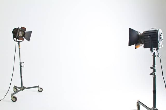 camera equipment to record an explainer video