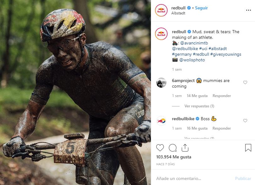 Instagram post from Redbull organization