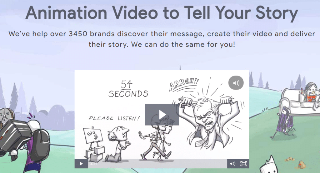 Ydraw explainer video homepage