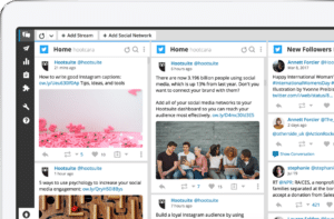 hootsuite dashboard showing various social media posts ready to go live