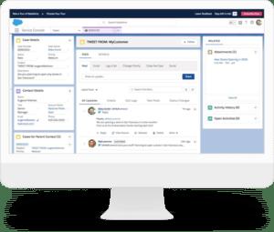 salesforce crm software dashboard