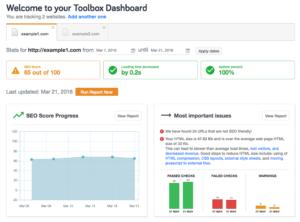 seo site checkup dashboard