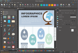 infographic being edited