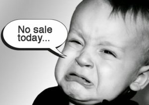 No sale today