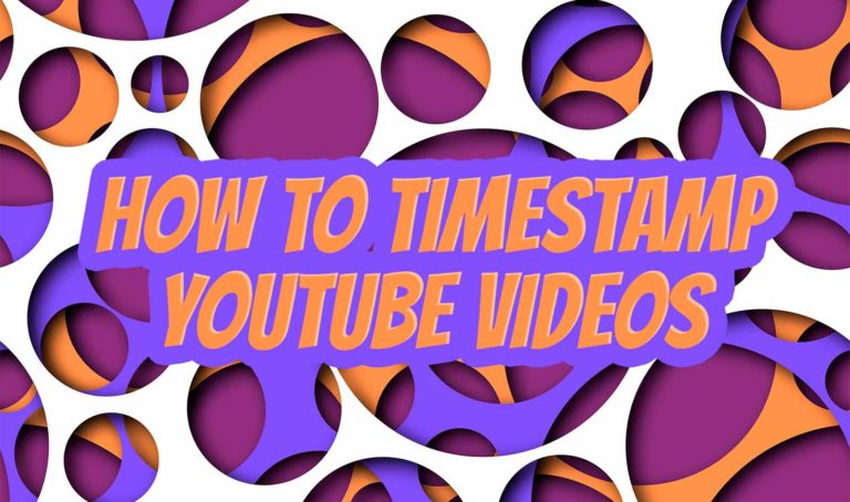 How to timestamp youtube videos